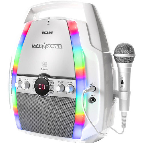 ION Audio Star Power - Portable Karaoke System with Bluetooth and CD Player