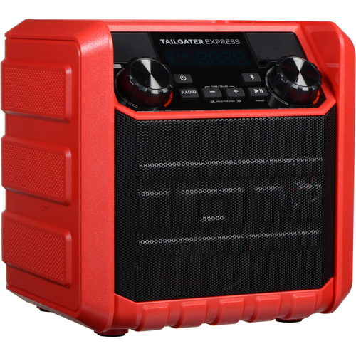 ION Audio Tailgater Express Compact Portable Bluetooth Speaker System (Red)
