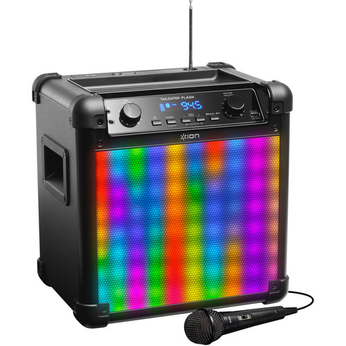 ION Audio Tailgater Flash Wireless Rechargeable Speaker System with Sound-Reactive Lights