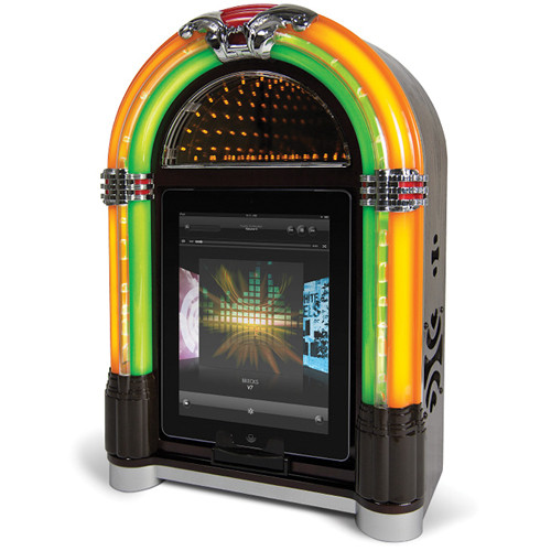 ION Audio Retro Rocker Jukebox Speaker Dock Jukebox Speaker Dock for iPad, iPhone and iPod