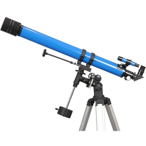 iOptron 900x70mm f/12.8 Refractor Telescope with EQ-2 German Equatorial Mount (Blue)