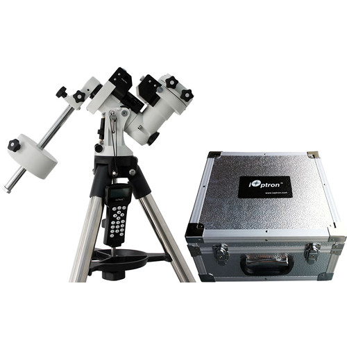 "iOptron ZEQ25 Computer-Controlled EQ Mount (1.5"" Tripod, Polar Scope, Hard Case)"
