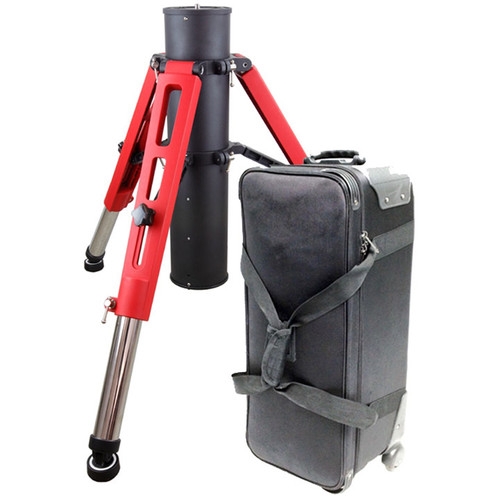 iOptron Tri-Pier for GoTo Mounts with Rolling Case (Red/Black)