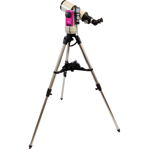 iOptron Cube-E-R80 SmartStar 80mm f/5 Refractor Telescope with GoTo Mount (Pulsar Pink)