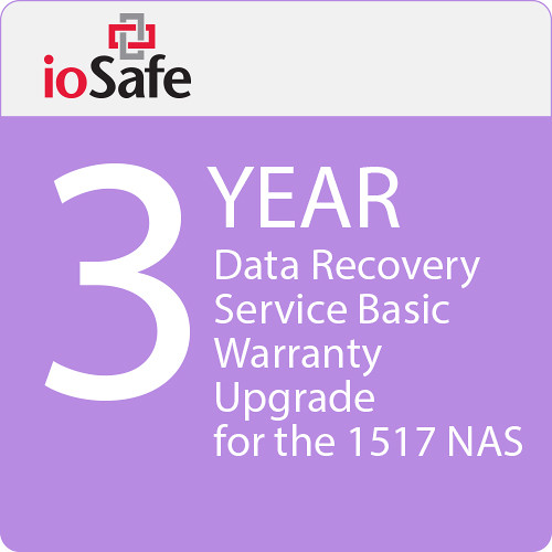 IoSafe 3-Year Data Recovery Service Basic Warranty Upgrade for the 1517 NAS