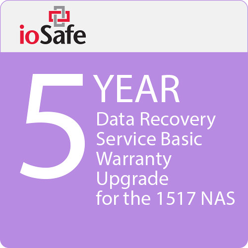 IoSafe 5-Year Data Recovery Service Basic Warranty Upgrade for the 1517 NAS