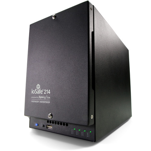 IoSafe 214 8TB 2-Bay NAS Server with 1-Year Pro DRS Warranty (2 x 4TB)