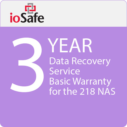 IoSafe 3-Year Data Recovery Service Basic Warranty Upgrade for the 218 NAS