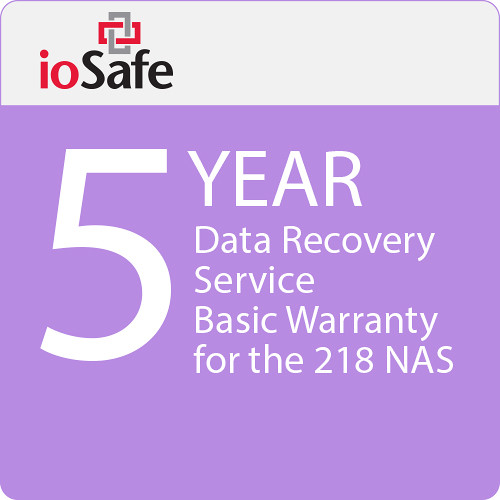 IoSafe 5-Year Data Recovery Service Basic Warranty Upgrade for the 218 NAS