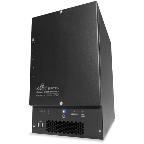 IoSafe Server5/ Disaster Protection/ Intel Processor D-1520/1521/ 64GB/ 50TB/ 5-Bay/ Raid/ w/o OS