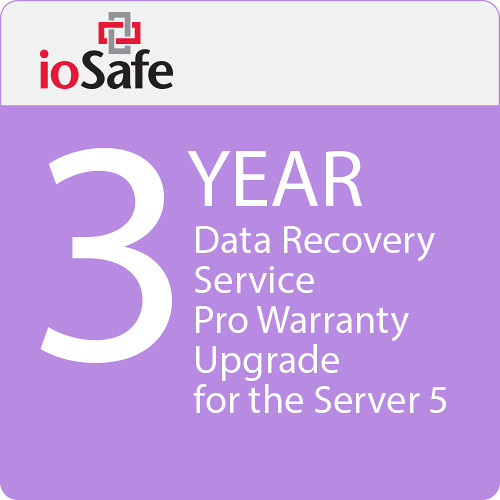 IoSafe 3-Year Data Recovery Service Pro Warranty Upgrade for the Server 5