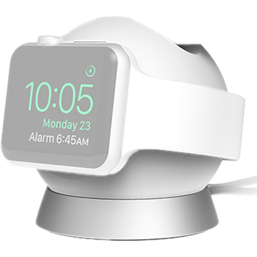 iOttie OmniBolt Charging Stand for Apple Watch and iPhone (Silver)