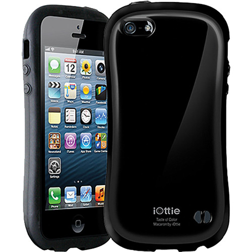 iOttie Macaron Protective Case Cover for iPhone 5 (Black)