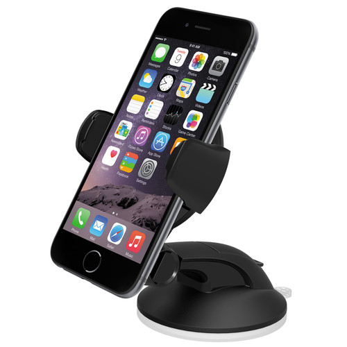 iOttie Easy Flex 3 Universal Car Mount with USB Charger Kit (Black Mount, Black Charger)