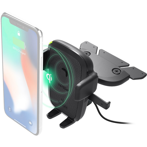 iOttie Easy One Touch Wireless Qi Fast Charging Smartphone Car CD Slot Mount