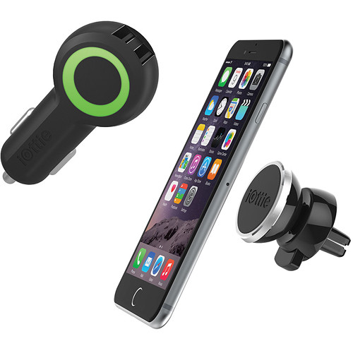 iOttie iTap Magnetic Smartphone Mount and RapidVOLT Dual USB Car Charger Kit