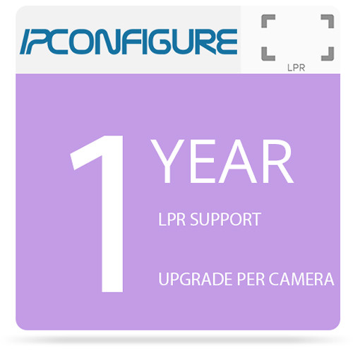 IPConfigure LPR Single Camera Support/Upgrade Package (1-Year)