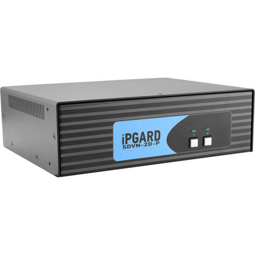 IPGard 2-Port Dual-Head Dual-Link DVI-I KVM Switch with CAC Port & 4K Support
