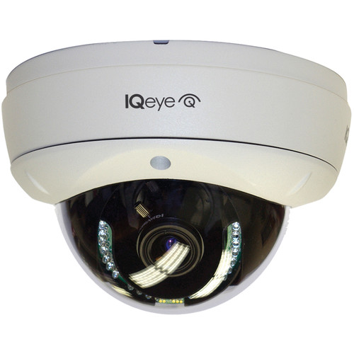 IQinVision IQeye Alliance-mx II Series IQM53WR-B5 3MP H.264 Vandal-Resistant PoE IR Network Dome Camera with 3 to 13mm Wide-Angle Lens