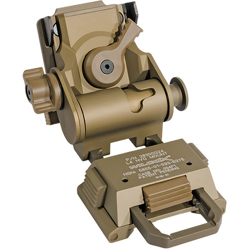 IR DEFENSE Wilcox G24 Helmet Mount for IR Patrol M250 & M300W (Tan)