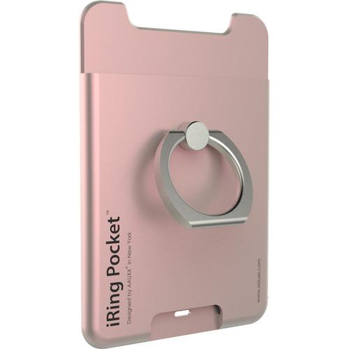 iRing Pocket Smartphone Grip & Card Holder (Rose Gold)