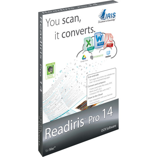 IRIS Readiris Pro 14 (Mac, Download, 1 User)