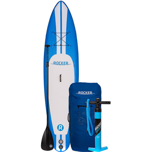 iROCKER 10' Inflatable Stand-Up Paddleboard Package (Blue)