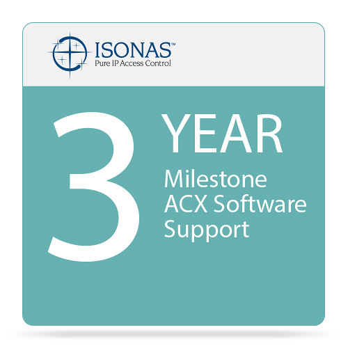 Isonas 3-Year Milestone ACX Software Support