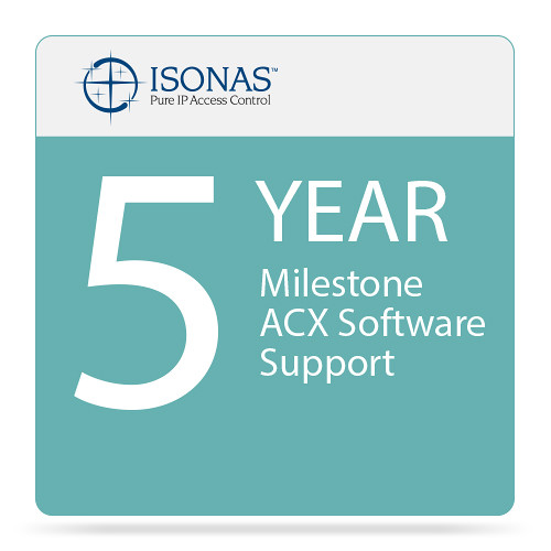 Isonas 5-Year Milestone ACX Software Support