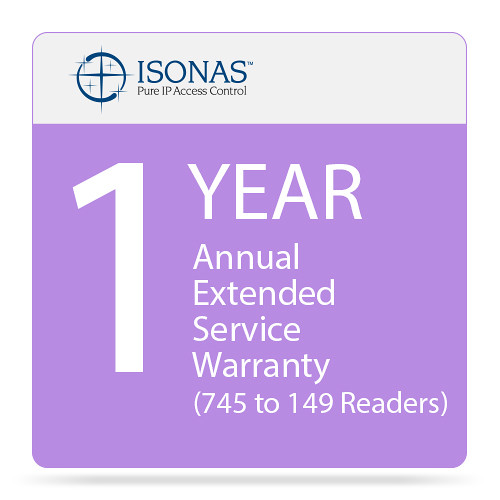 Isonas One-Year Annual Extended Service Warranty (75 to 149 Readers)