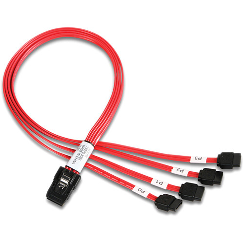 iStarUSA 4 SATA to Internal Mini SAS Cable (1.64')