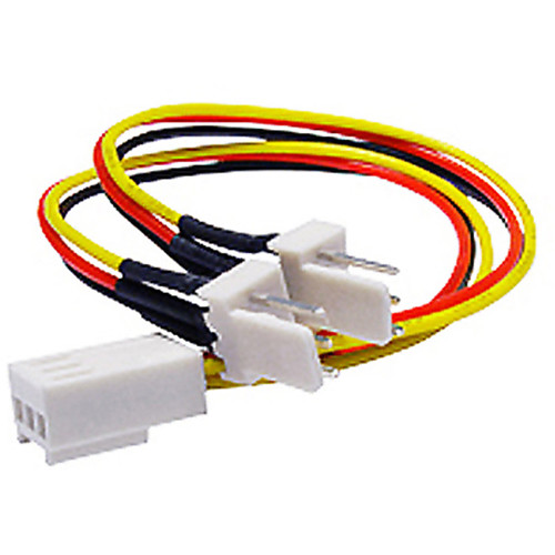 iStarUSA 3-Pin Female to Two 3-Pin Male Fan Splitter Y Cable