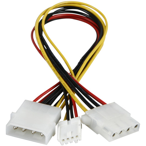 "iStarUSA Molex to One Molex & One Floppy Y-Cable (8.5"")"