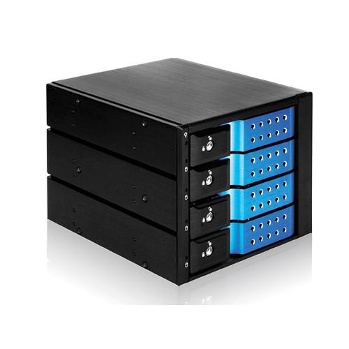 iStarUSA BPN-DE340SS SAS/SATA 6.0 Gb/s Tray-Less Hot-Swap Cage (Blue)