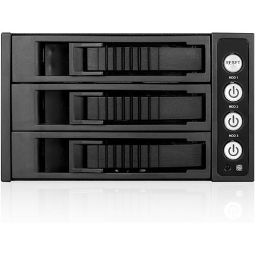 iStarUSA 2x 5.25 to 3x 3.5 12Gb/S Rack - Black
