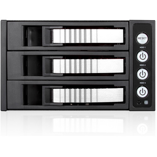 iStarUSA 2x 5.25 to 3x 3.5 12Gb/S Rack - Silver