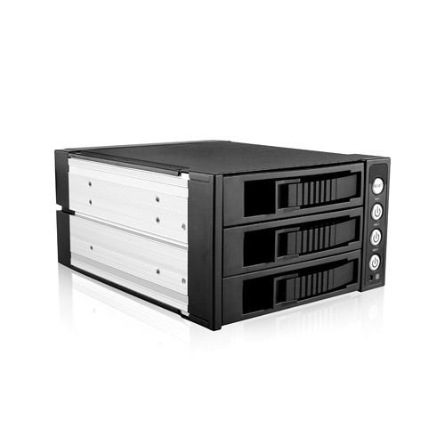 "iStarUSA 5.25 to 3.5"" SAS/SATA 6.0 Gb/s Hot-Swap Cage (Black)"