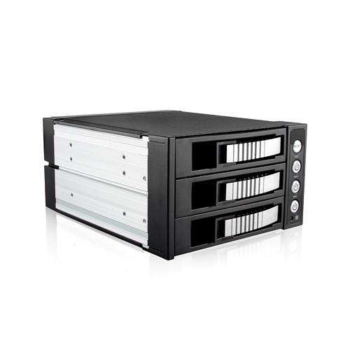 "iStarUSA 5.25 to 3.5"" SAS/SATA 6.0 Gb/s Hot-Swap Cage (Silver)"