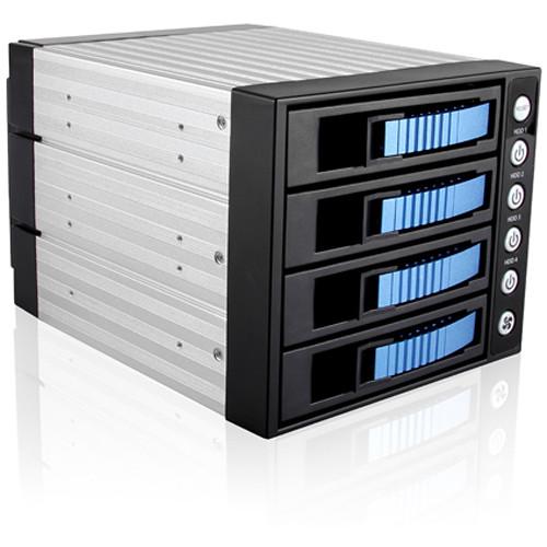 iStarUSA 3x 5.25 to 4x 3.5 12Gb/S Rack - Blue