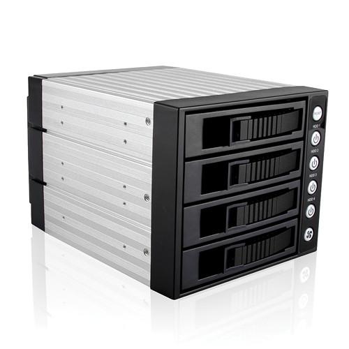 "iStarUSA 3x 5.25"" to 4x 3.5"" SAS/SATA 6.0 Gb/s Hot-Swap Cage (Black)"