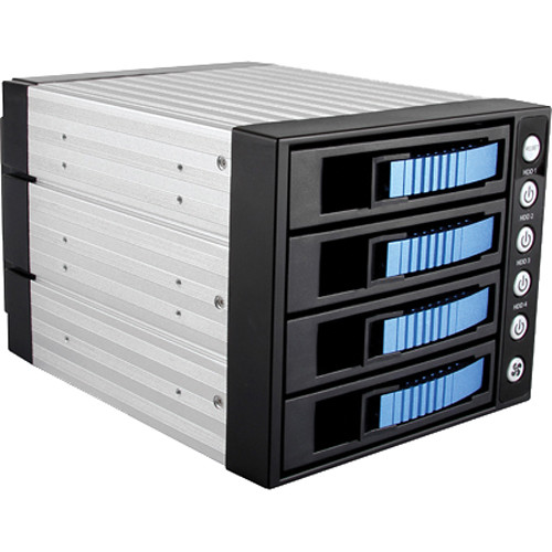 "iStarUSA BPU-340SATA 3 x 5.25"" to 4 x 3.5"" Bay SAS/SATA 6.0 Gb/s Hot-Swap Cage (Silver)"