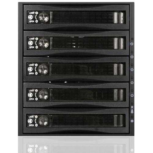 iStarUSA 3x 5.25 to 5x 3.5 12Gb/S Rack - Plastic Door