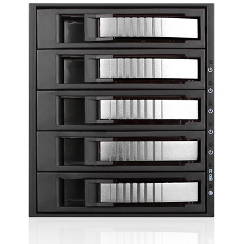 iStarUSA 3x 5.25 to 5x 3.5 12Gb/S Rack - Silver