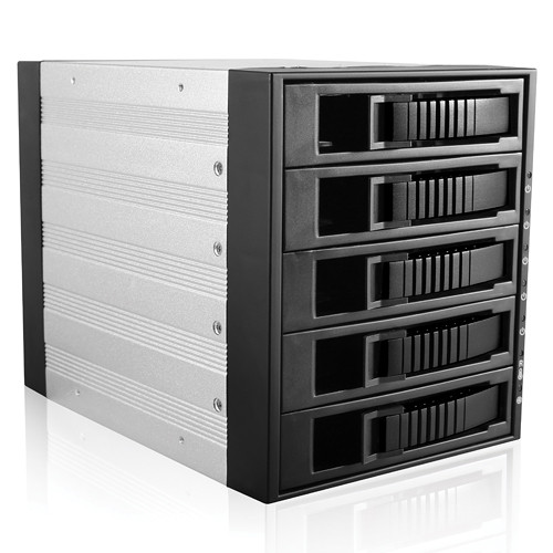 "iStarUSA 3x 5.25"" to 5x 3.5"" SAS/SATA 6.0 Gb/s Hot-Swap Cage (Black)"