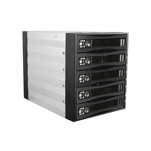 "iStarUSA BPU-350SATA 3 x 5.25"" to 5 x 3.5"" Bay SAS/SATA 6.0 Gb/s Hot-Swap Cage (Lockable)"