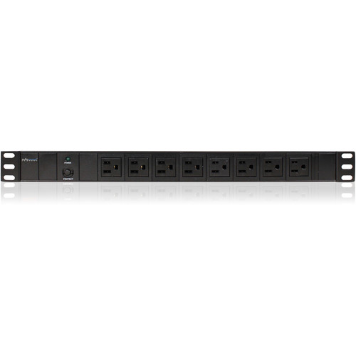 iStarUSA Vertical/Horizontal Style Power Distribution Unit with 8x NEMA 5-15R Outlets and 10' Cord