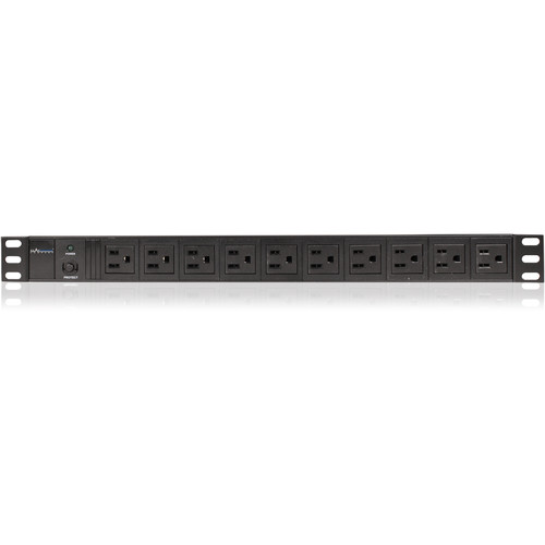 iStarUSA Vertical/Horizontal Style Power Distribution Unit with 10x NEMA 5-15R Outlets and 10' Cord