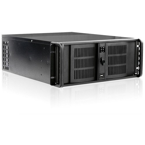 iStarUSA D-400-6 4 RU Compact Stylish Rackmount Chassis Kith with BPN-DE340SS SAS/SATA Tray-Less Hot-Swap Cage (Black)