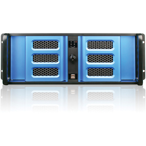 iStarUSA D Storm Series D406SE-B6BL 4U Compact Stylish Rackmountable Chassis Kit