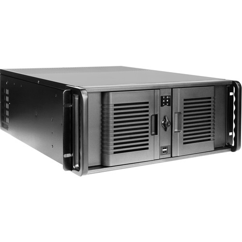 "iStarUSA Compact Stylish Trayless Rackmount Chassis for Six 3.5"" Hotswap Drives (4RU, Blue HDD Handles)"